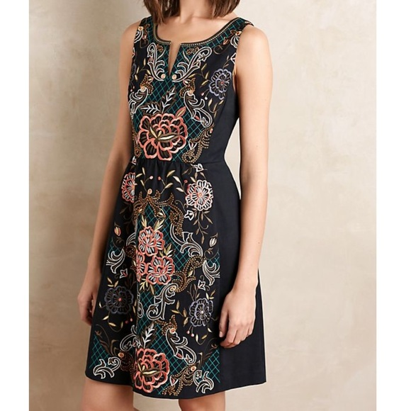 Anthropologie Dresses & Skirts - Anthropologie Embroidered Perennial Dress 1283